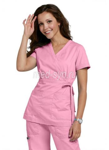 Медицинский костюм нежно-розовый