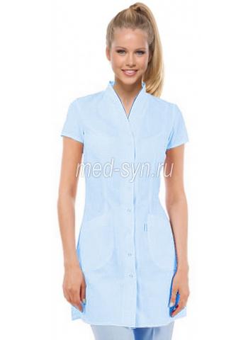 медицинский халат №4  голубой
