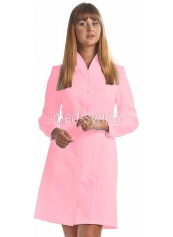 медицинский халат розовый