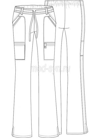 медицинские брюки фуксия 2500 руб