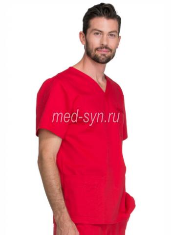 Медицинский костюм красного цвета