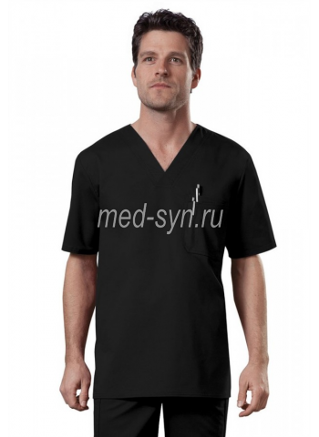 Мужской медицинский костюм черный, черный хирургический костюм купить