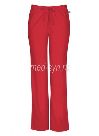 Красные медицинские брюки