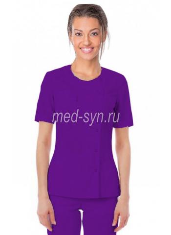 Медицинская блуза фиолетовая, медицинские топы 500 руб