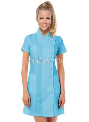 Медицинские халаты голубые