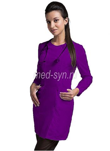 фиолетовый медицинский халат