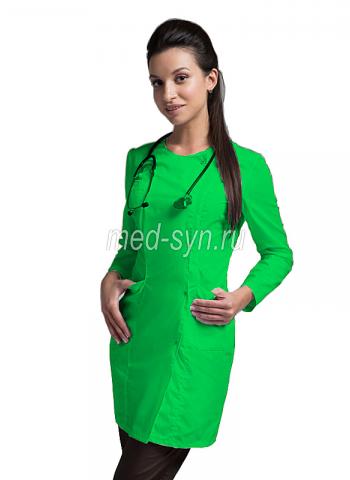 медицинский халат зеленое яблоко