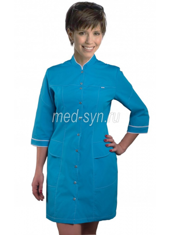 Голубой медицинский халат, купить медицинский халат цветной