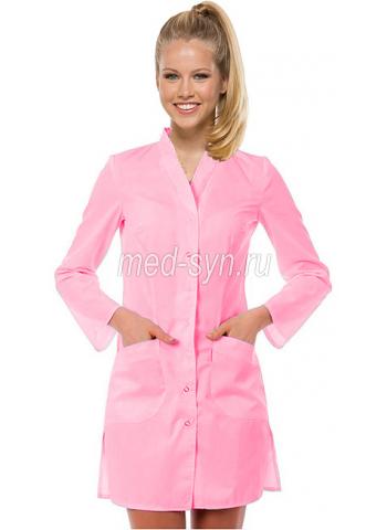 медицинский халат розовый 1690 руб
