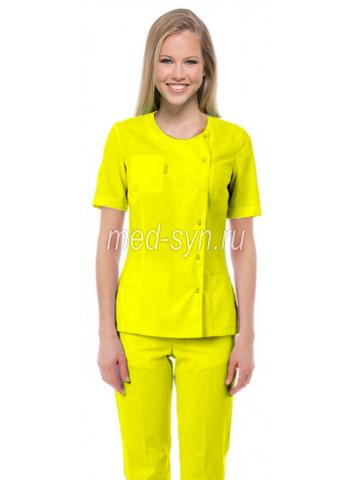 Желтый медицинский костюм 1400 руб