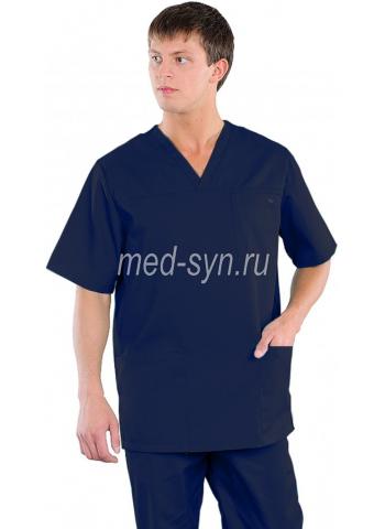хирургический костюм темно-синий