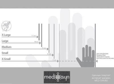 Определение размера медицинских перчаток