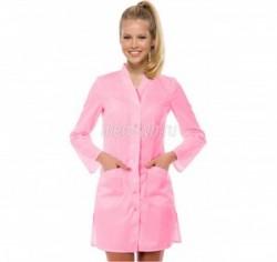 Розовый медицинский халат