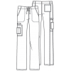 cherokee pants 4043 whtw