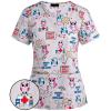 Медицинский костюм с детским рисунком