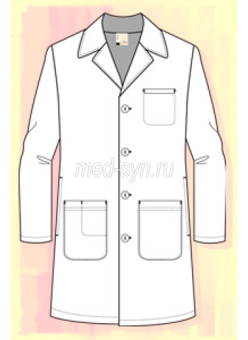 Халат медицинский мужской купить в москве