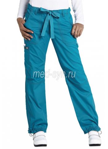 Медицинские брюки изумрудные