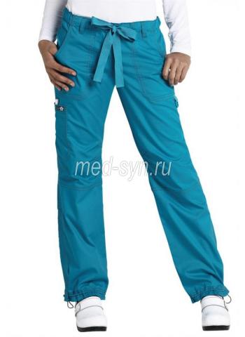 Медицинские брюки бирюзовые, мед одежда почтой