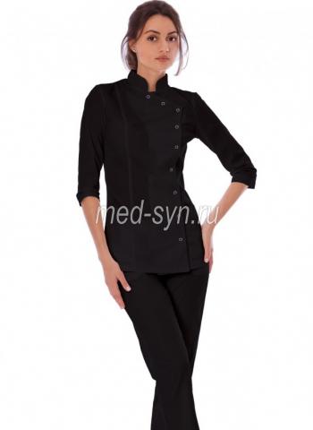 Черный медицинский костюм