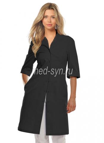 медицинский халат черный 2500 р в наличии