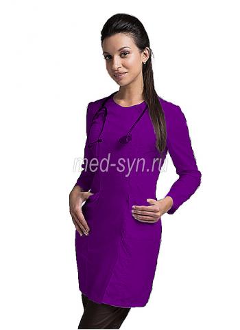 медицинский халат фиолетовый