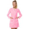 женский медицинский халат розовый